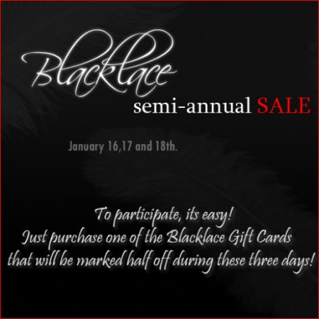 Blacklace Sale This Weekend!